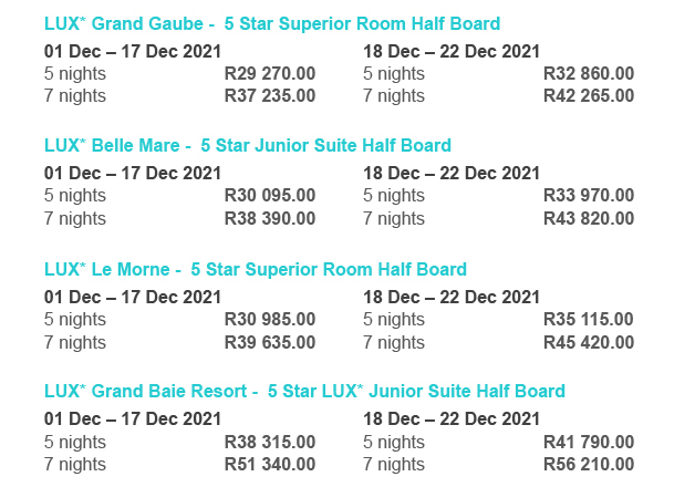 Not-to-be-missed Mauritius Package Details